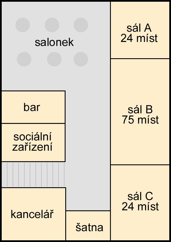 Konferenční centrum plánek